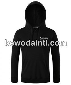 Fleece Pullover Black Hoodie Men