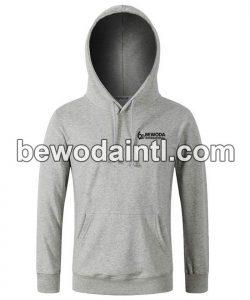 Fleece Pullover Grey Hoodie for Men
