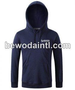 Fleece Pullover Navy Hoodie for Men