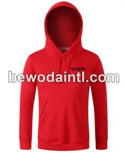 Fleece Pullover Red Hoodie for Men