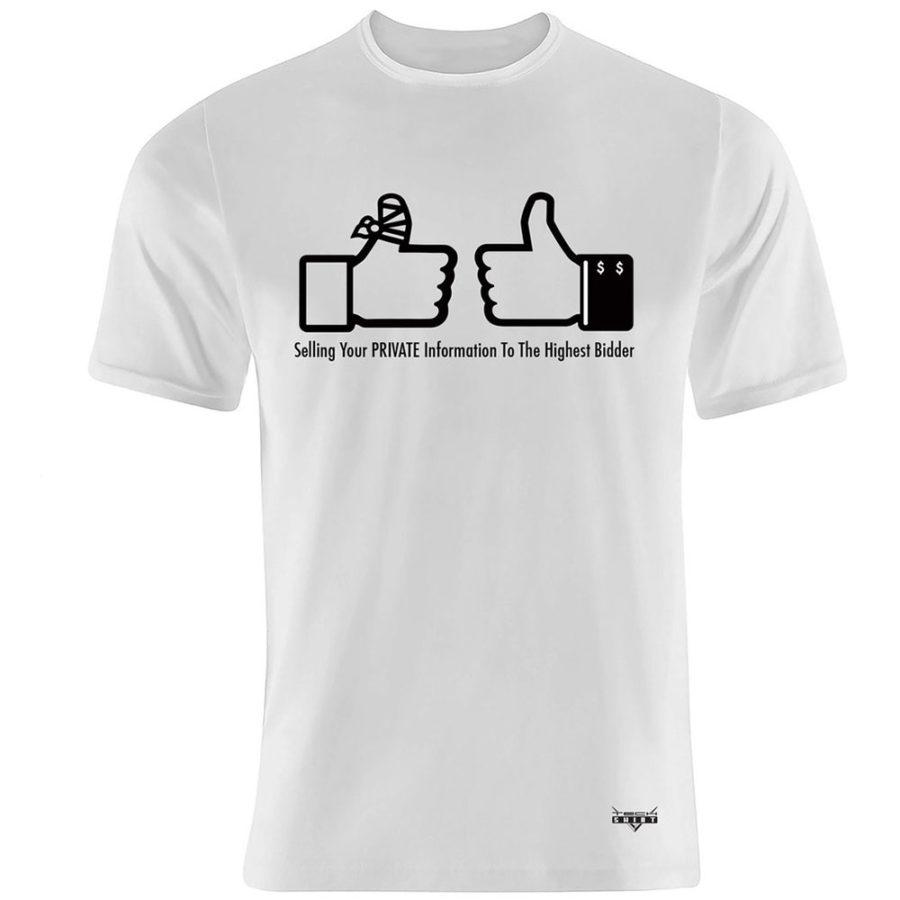 Flat white front T-Shirt for men