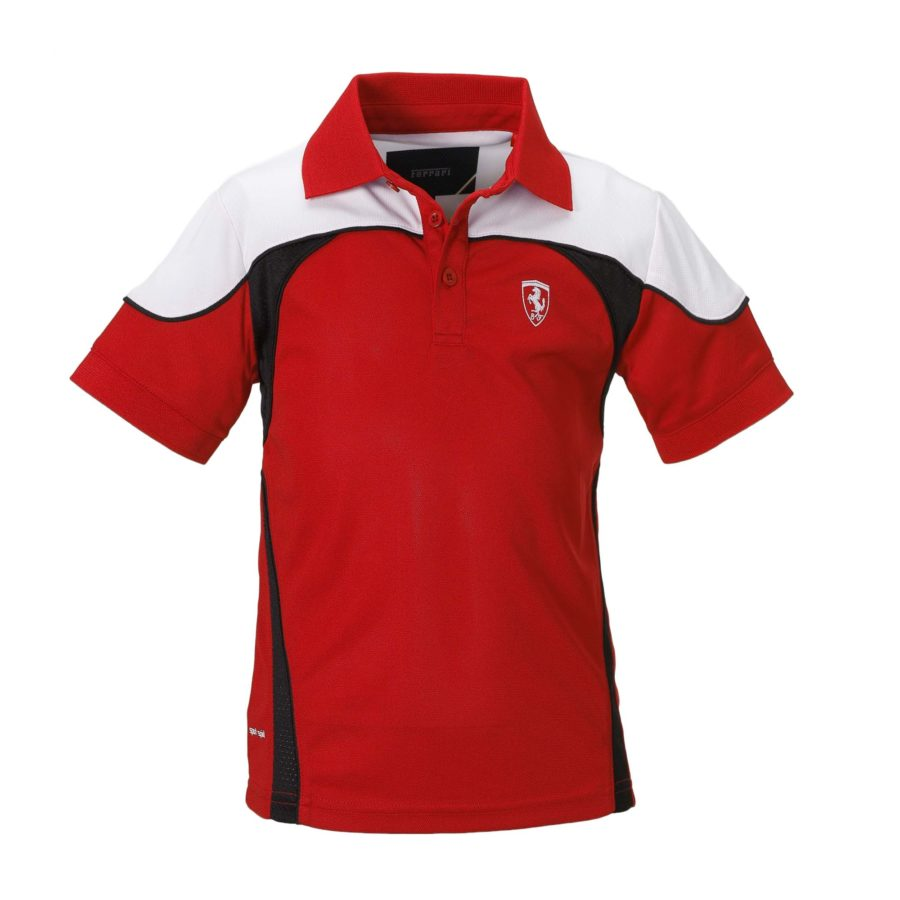 Polo Shirt Red and White Design