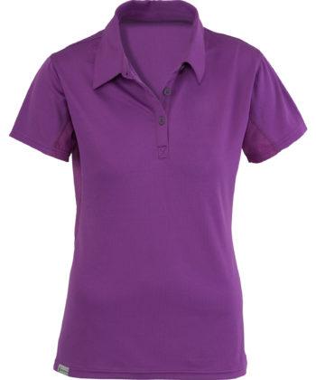 flat purple polo shirt for women