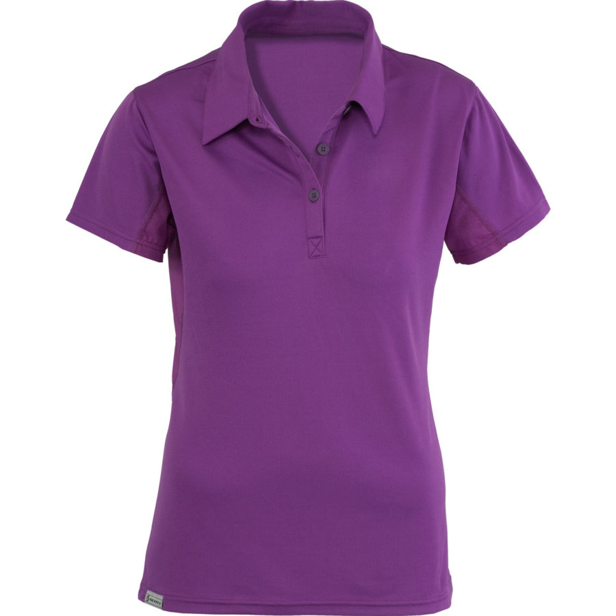 flat purple polo shirt for women