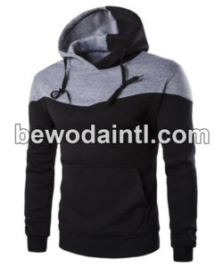 pullover grey and black hoodie for men