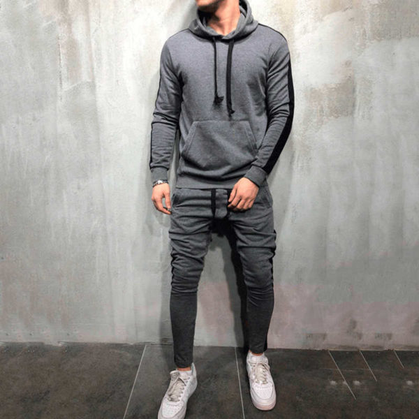 Men Fleece (gym) Tracksuit Slim Fit 7