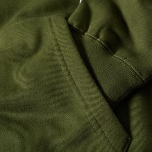 Green Cotton Fleece Gym Pullover Hoodies 2