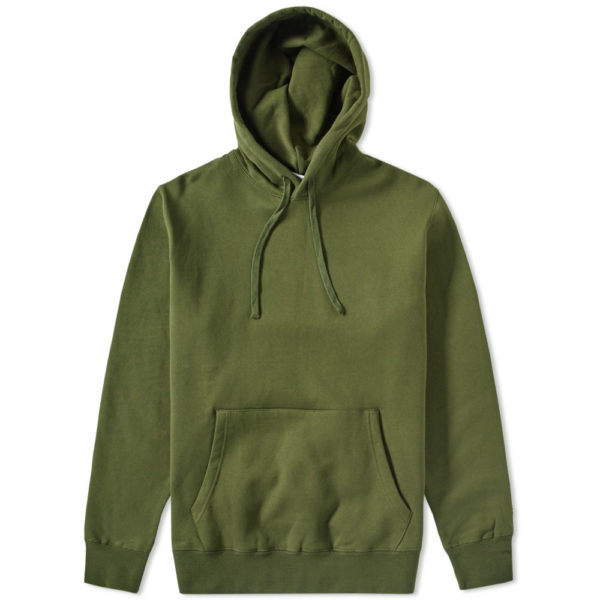 Green Cotton Fleece Gym Pullover Hoodies 4