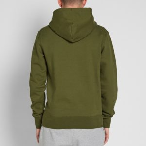 Green Cotton Fleece Gym Pullover Hoodies 3