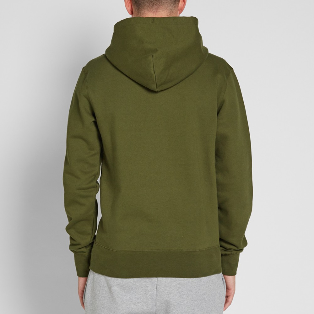 Green Cotton Fleece Gym Pullover Hoodies