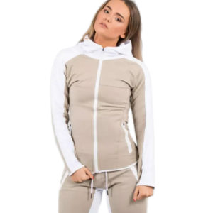 New Fashion Women Polyster Tracksuit Jacket and Long Pant 2