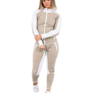 New Fashion Women Polyster Tracksuit Jacket and Long Pant 1