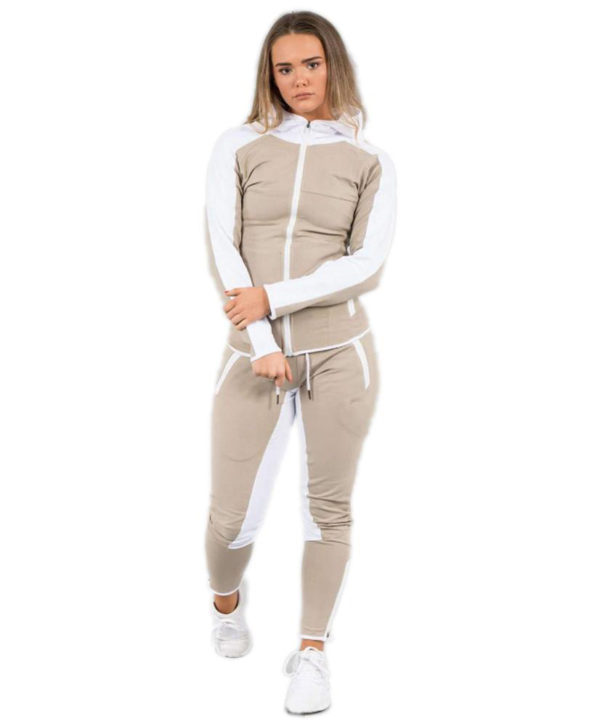New Fashion Women Polyster Tracksuit Jacket and Long Pant 4