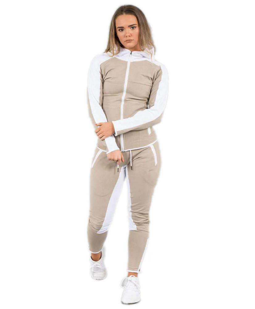 New Fashion Women Polyster Tracksuit Jacket and Long Pant