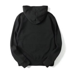 Black Cotton Fleece Hoodies Pullover / Zipper 2