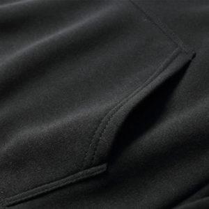 Black Cotton Fleece Hoodies Pullover / Zipper 5