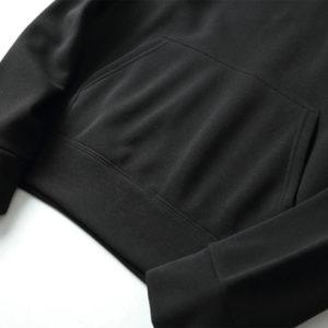 Black Cotton Fleece Hoodies Pullover / Zipper 4