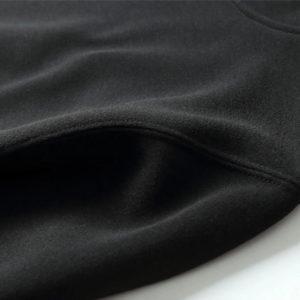 Black Cotton Fleece Hoodies Pullover / Zipper 3