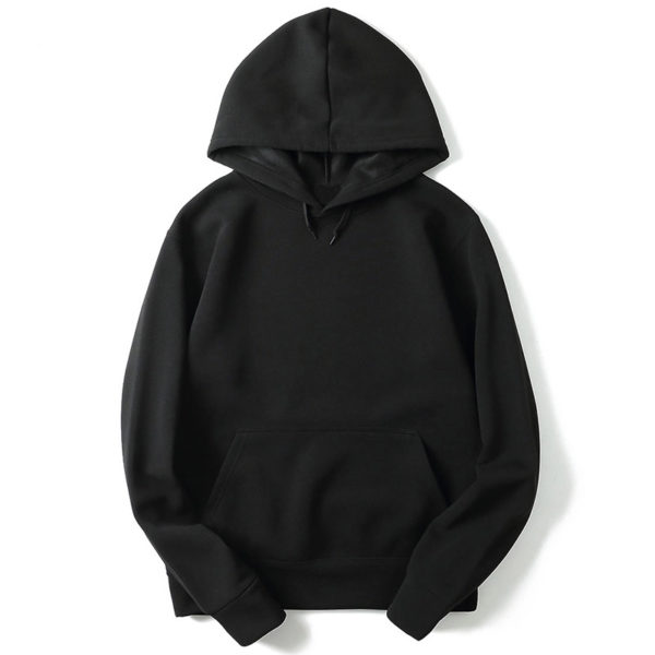 Black Cotton Fleece Hoodies Pullover / Zipper 6