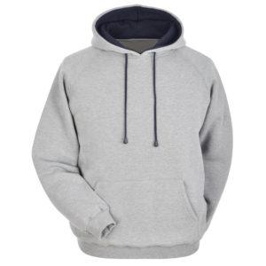 Cotton Fleece Hoodie with different hood inner color 3