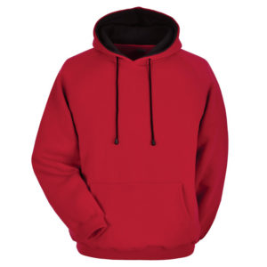 Cotton Fleece Hoodie with different hood inner color 2
