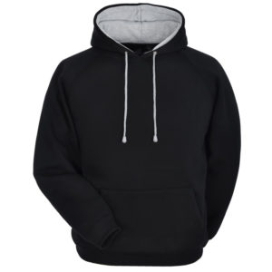 Cotton Fleece Hoodie with different hood inner color 1