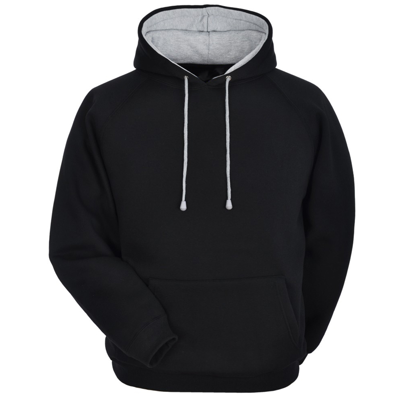 Cotton Fleece Hoodie with different hood inner color