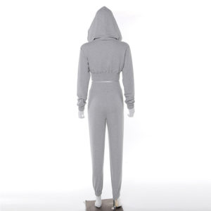 Women Fleece Tracksuit Cropped Hoodie and Pant 5