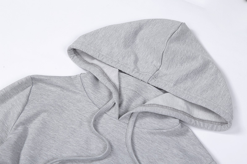 Women Fleece Tracksuit Cropped Hoodie and Pant