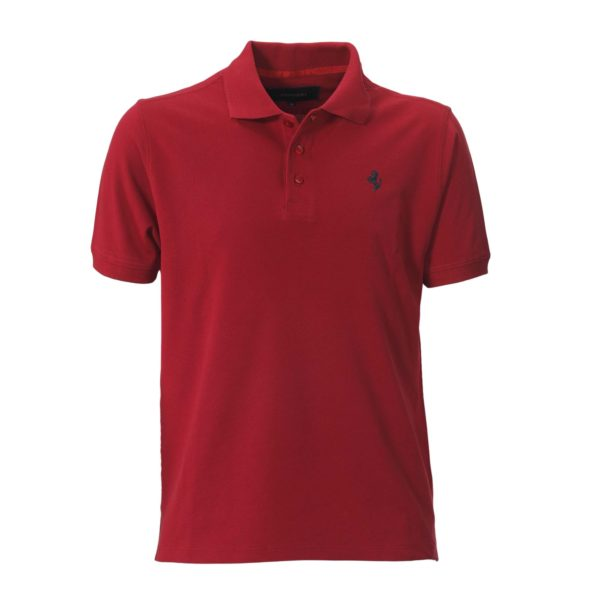 Flat Red Polo Shirt For Men 1