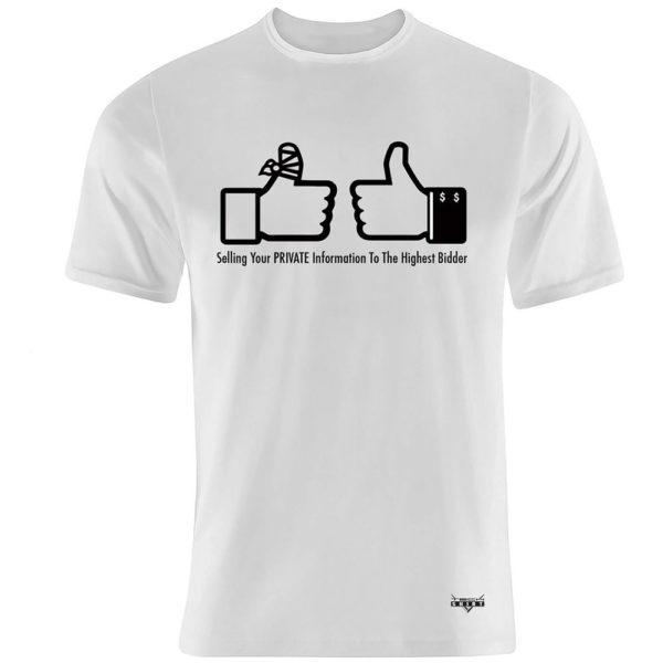 Flat white front T-Shirt for men 1