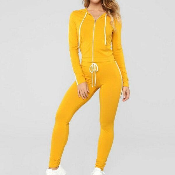 Ladies Casual Sportswear Women Fleece Tracksuits 4