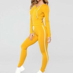 Ladies Casual Sportswear Women Fleece Tracksuits 2
