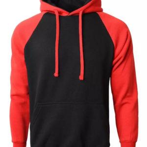 Men American Style Shoulder Fleece Hoodie 1