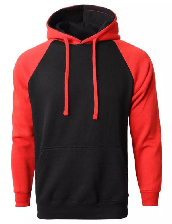 Men American Style Shoulder Fleece Hoodie 6