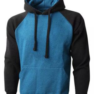 Men American Style Shoulder Fleece Hoodie 2