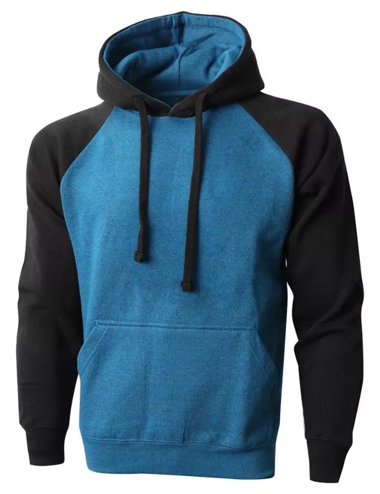 Men American Style Shoulder Fleece Hoodie