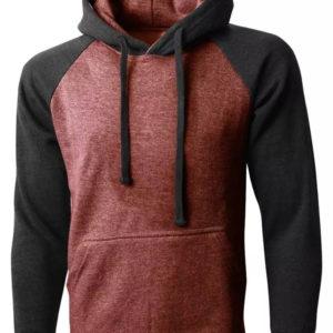 Men American Style Shoulder Fleece Hoodie 3
