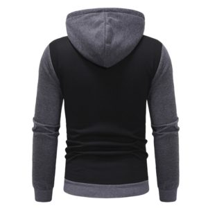 Men Fashion Gym Fleece Grey and Black Tracksuit 4
