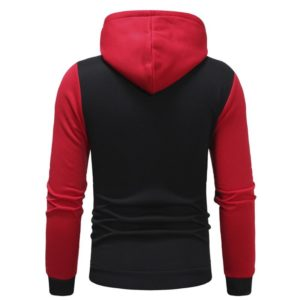 Men Fashion Gym Fleece Red and Black Tracksuit 2