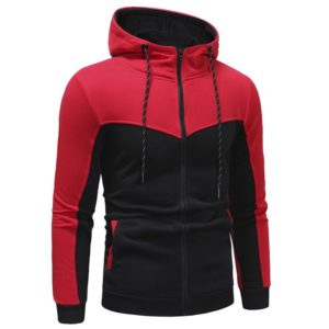 Men Fashion Gym Fleece Red and Black Tracksuit 3