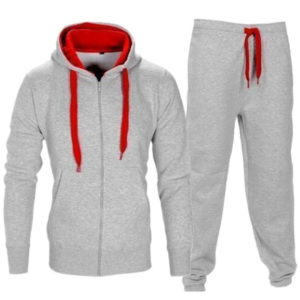 Men Fleece Grey Tracksuit 1