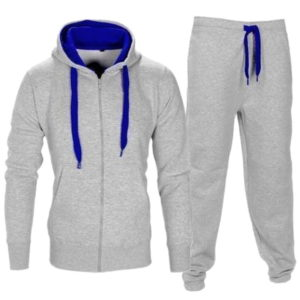Men Fleece Grey Tracksuit 2