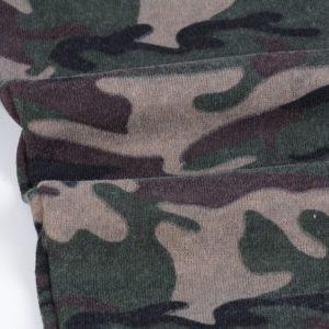Men Green Camo Slim fit Gym Fleece Tracksuit 7