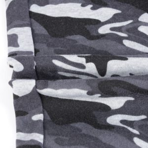 Men Grey Camo Slim fit Gym Fleece Tracksuit 8