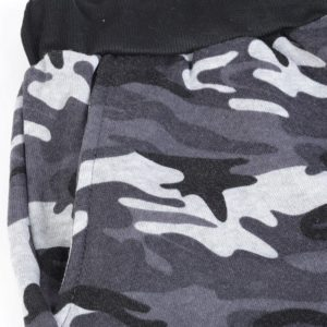 Men Grey Camo Slim fit Gym Fleece Tracksuit 7
