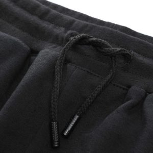 Men fashion slim fit polyester tracksuit white and black 10