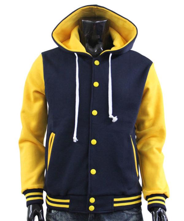Men's Hoodie Baseball Jacket Varsity Jacket Sweatshirt Letterman Jacket 5