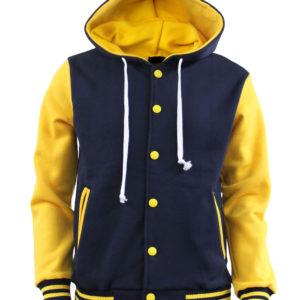 Men's Hoodie Baseball Jacket Varsity Jacket Sweatshirt Letterman Jacket 4