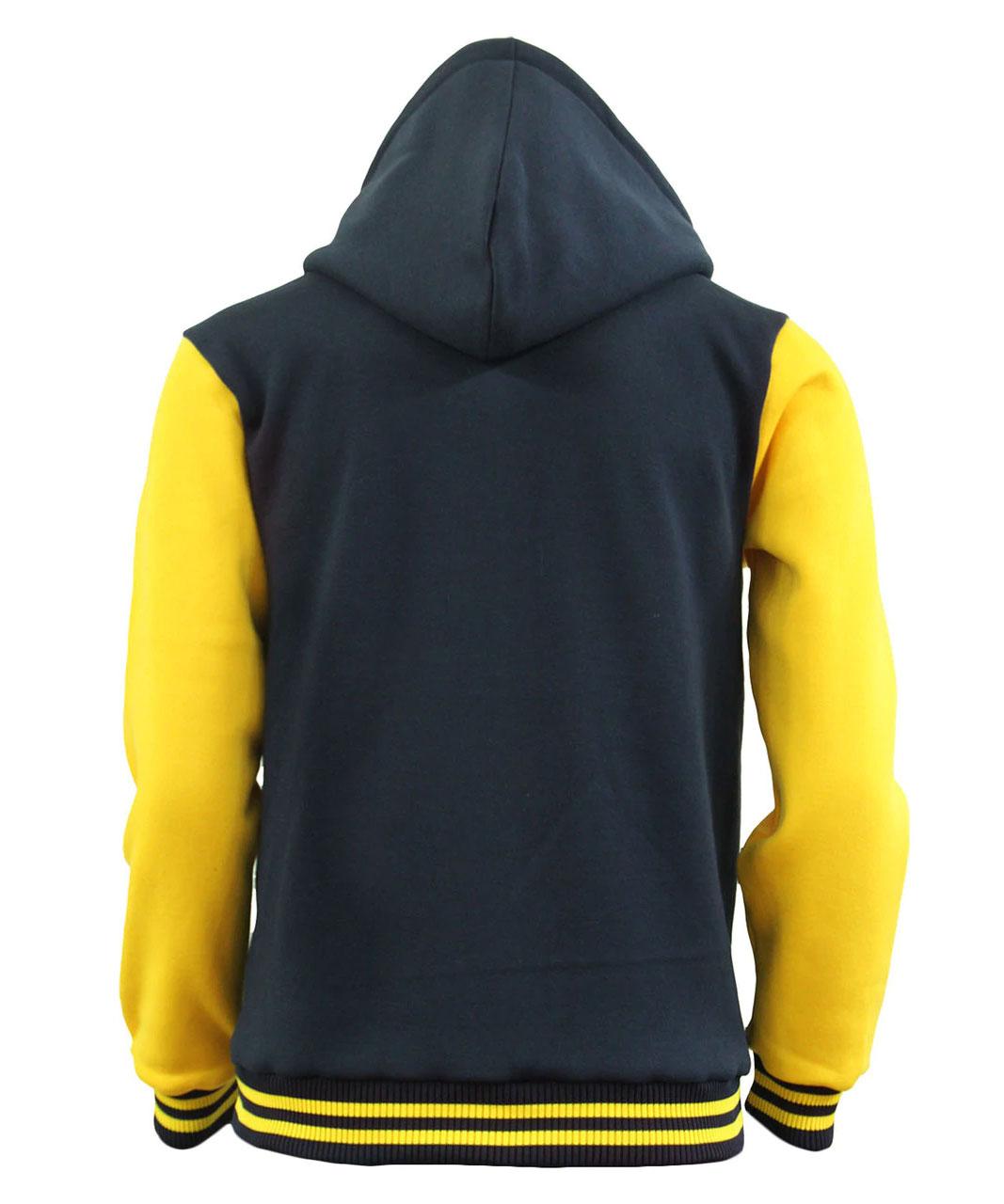 Men's Hoodie Baseball Jacket Varsity Jacket Sweatshirt Letterman Jacket